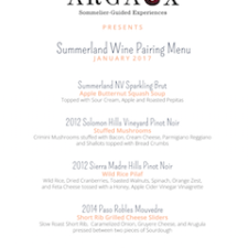 The Perfect Pair by Argaux—Summerland Wine Pairing Menu